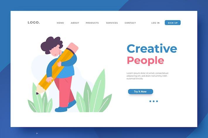 Thumbnail for Illustration de la page de destination Creative Peoples