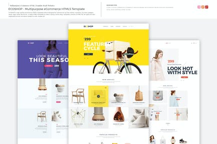 ECOSHOP - Multipurpose eCommerce HTML5 Template