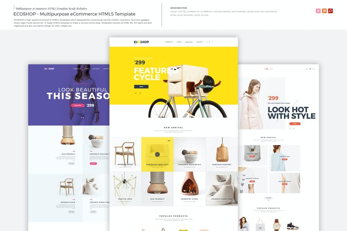 Thumbnail for ECOSHOP - Multipurpose eCommerce HTML5 Template