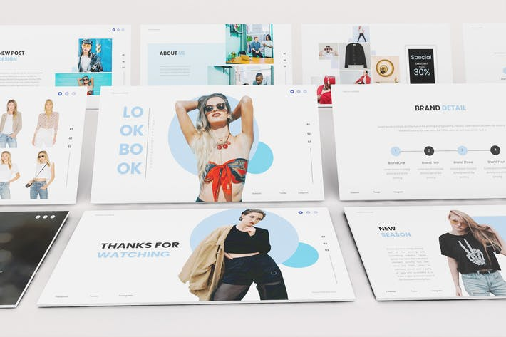 Thumbnail for Fashion Lookbook Powerpoint Template