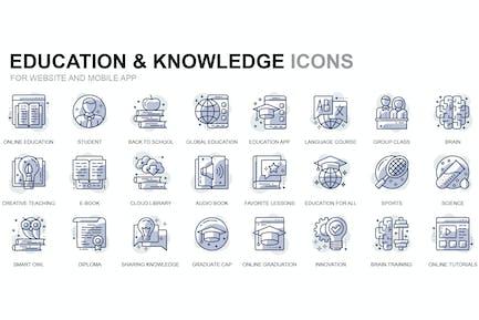 Bildungs- und Wissens-SIcons