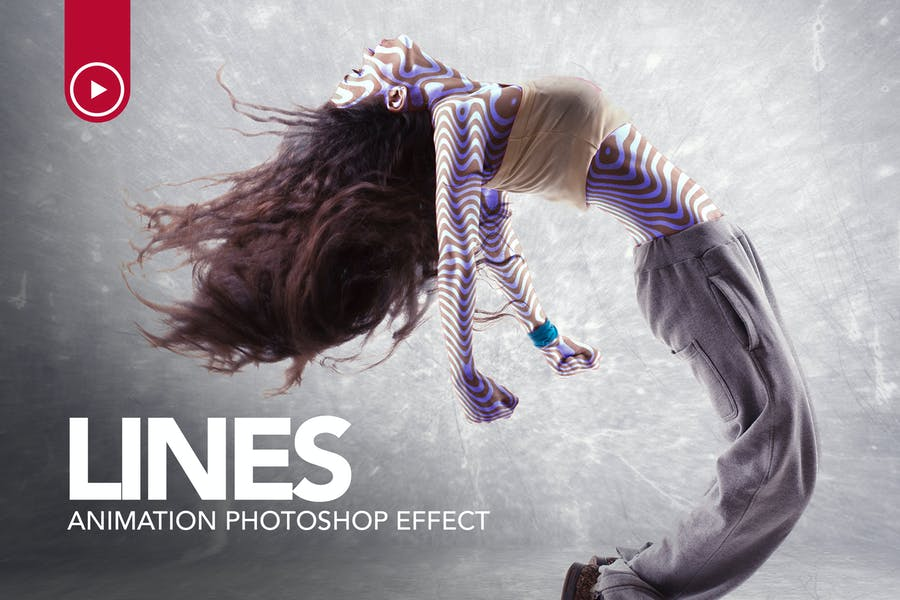 Lines Animation Photoshop Action