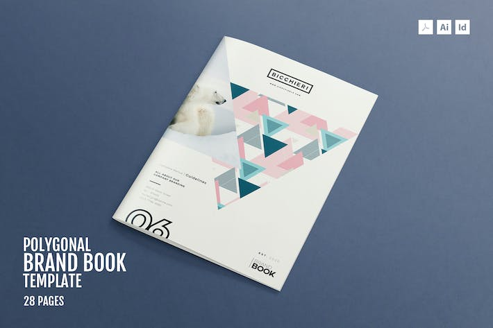 Thumbnail for Polygonal - Brand Style Guide Template