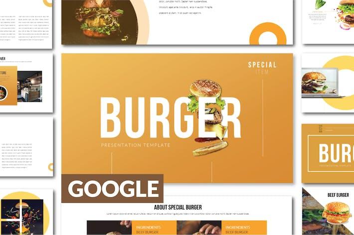 Thumbnail for BURGER Business Google Slide Template - LS
