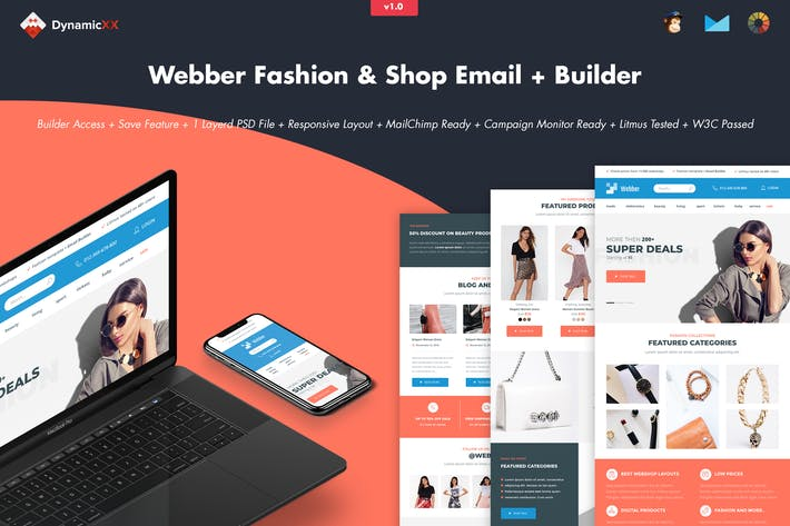 Thumbnail for Webber - Fashion, Shop & Store Email + Builder