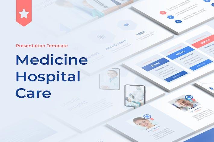 Thumbnail for Medicine Hospital Care Google Slides Template