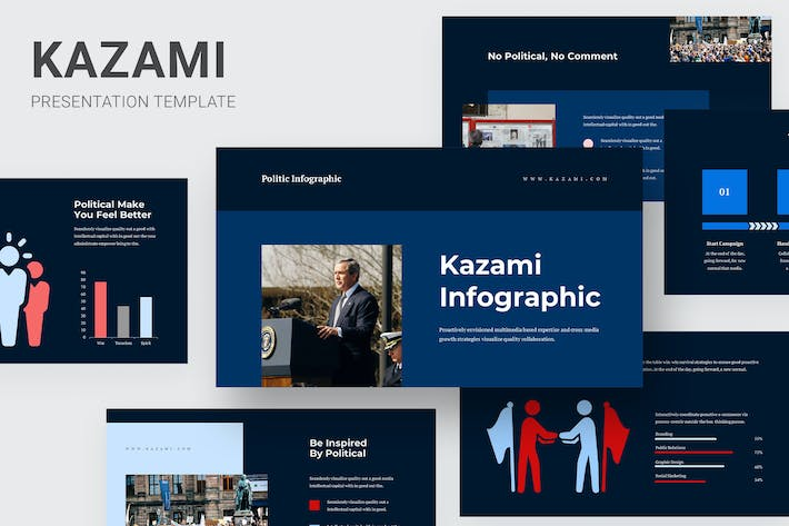 Thumbnail for Kazami - Political Campaign Infographic Keynote