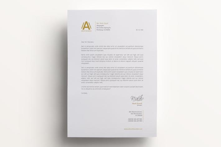 download 16 515 letterhead template envato elements