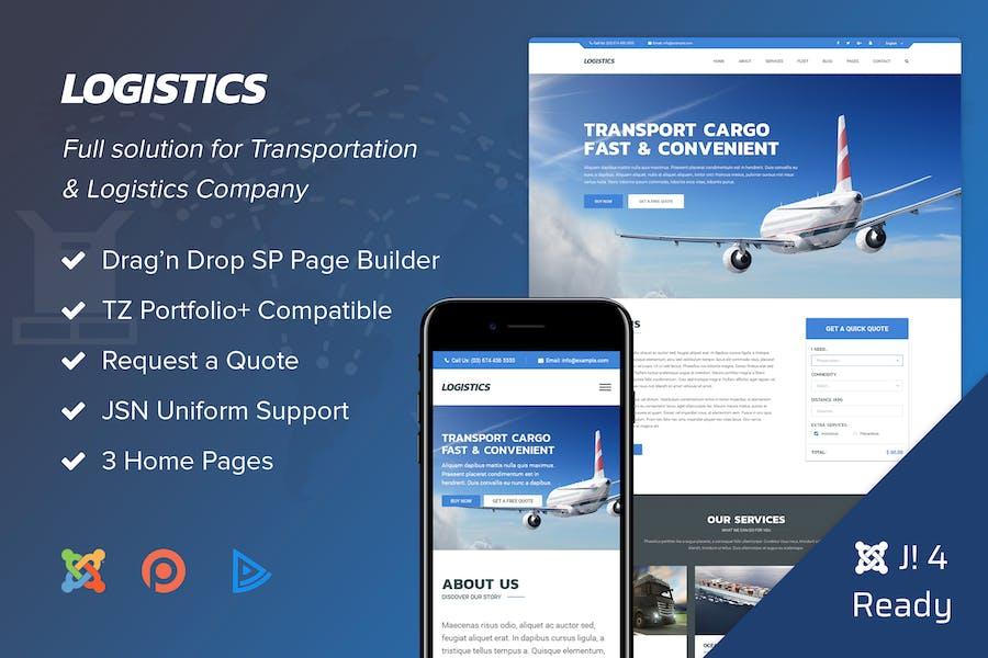 Logistics - Transportation Joomla 4 Template