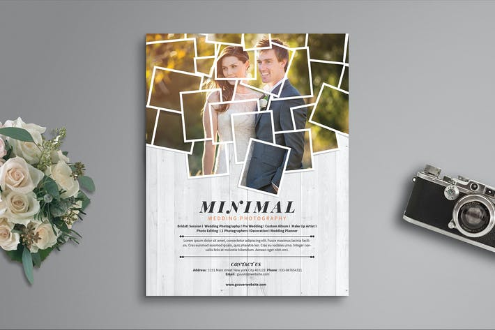 Thumbnail for Minimal Wedding Photography Flyer