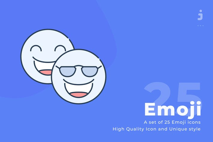 Thumbnail for 25 Emoji icons - Web icon