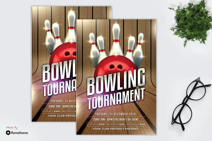 Cover Image For Bowling Tournament - Flyer MR