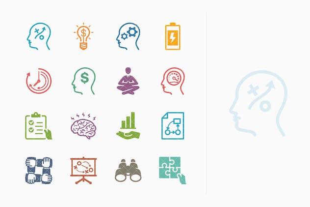 Colored Productivity Improvement Icons - Set 2