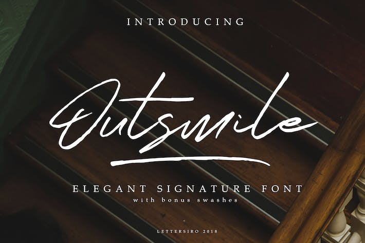 Thumbnail for Outsmile   Signature Font