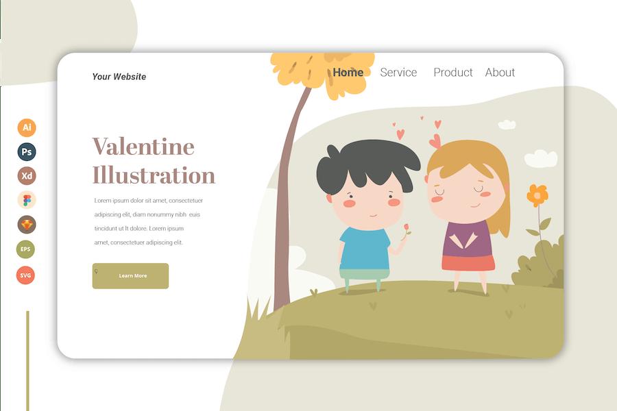 Valentine - Landing Page Template