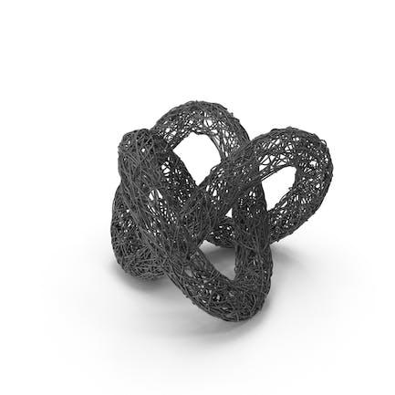 Drahtskulptur Torusknoten