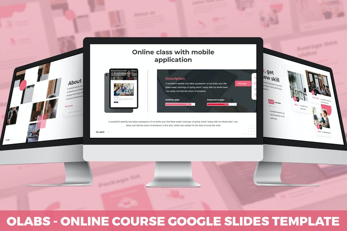 Thumbnail for Olabs - Online Course Google Slides Template