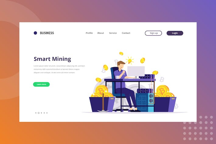 Smart Mining Bitcoin Landing Page