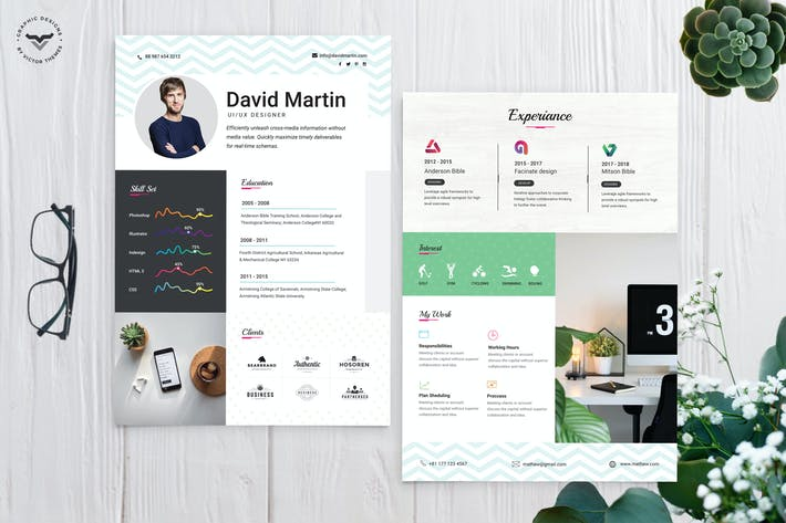 Thumbnail for UI/UX Designer CV Template