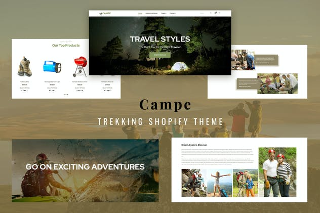 Campe - Camping & Adventure Shopify Theme
