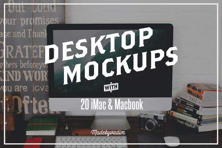 Thumbnail for 20 Мокапы тов экрана iMac и Macbook