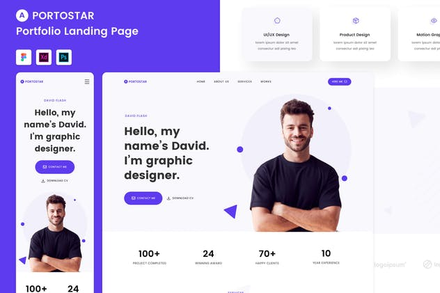 Portostar - Portfolio Landing Page