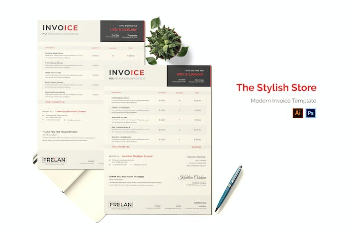 Thumbnail for Stylish Store Invoice