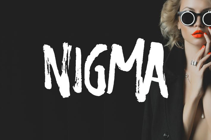 Thumbnail for Nigma - Brush Font