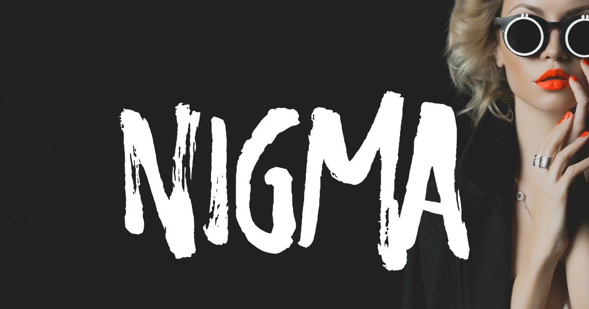Download Nigma - Brush Font by MehmetRehaTugcu
