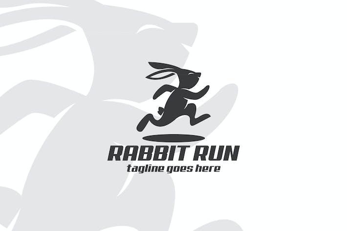 Thumbnail for Mascotte Lapin Run Vecteur Logo