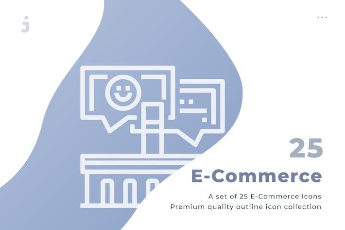 Thumbnail for 25 Ecommerce icon set