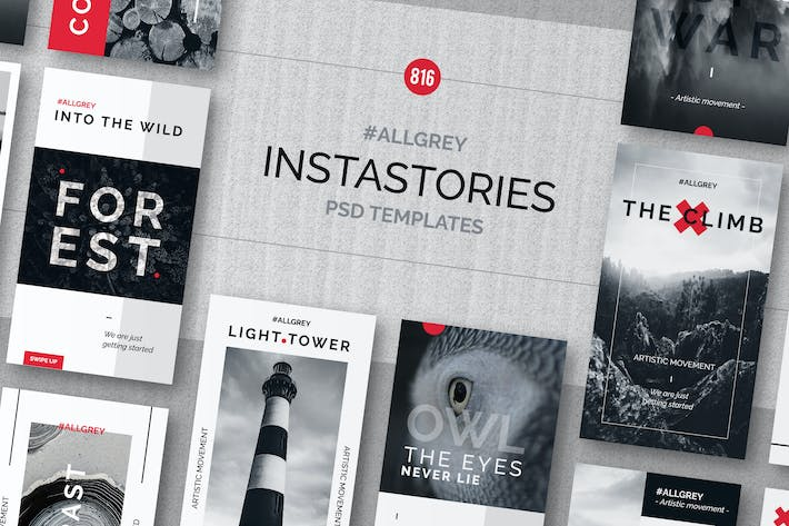 "Cover Image For ""Allgrey"" Instagram Story Templates"