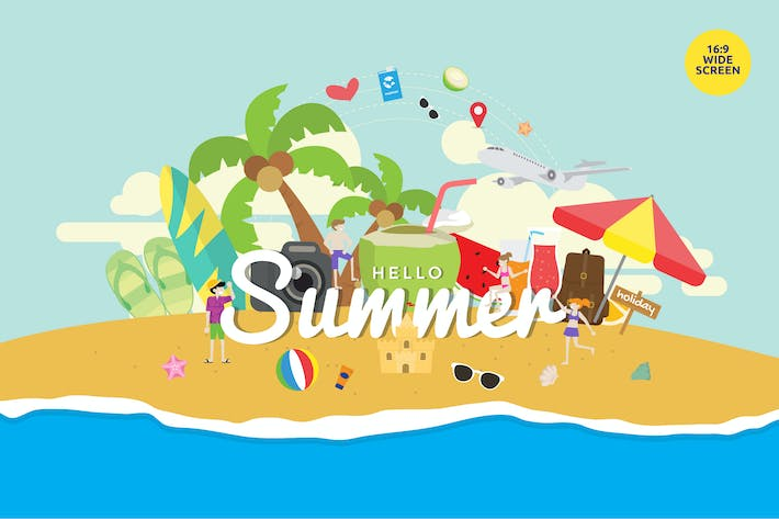 Thumbnail for Tropical Summer Holiday Party Vector Concept