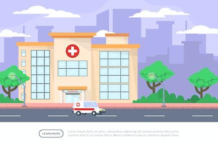 Hospital - Building Illustration