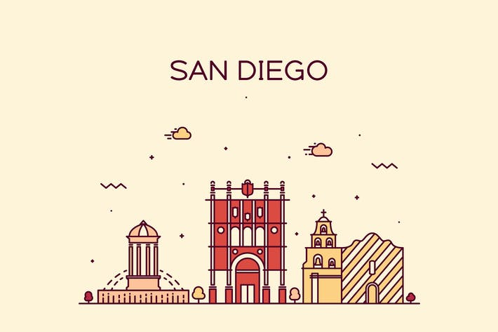 Thumbnail for San Diego skyline, United States