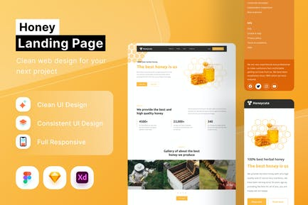 Honey Landing Page