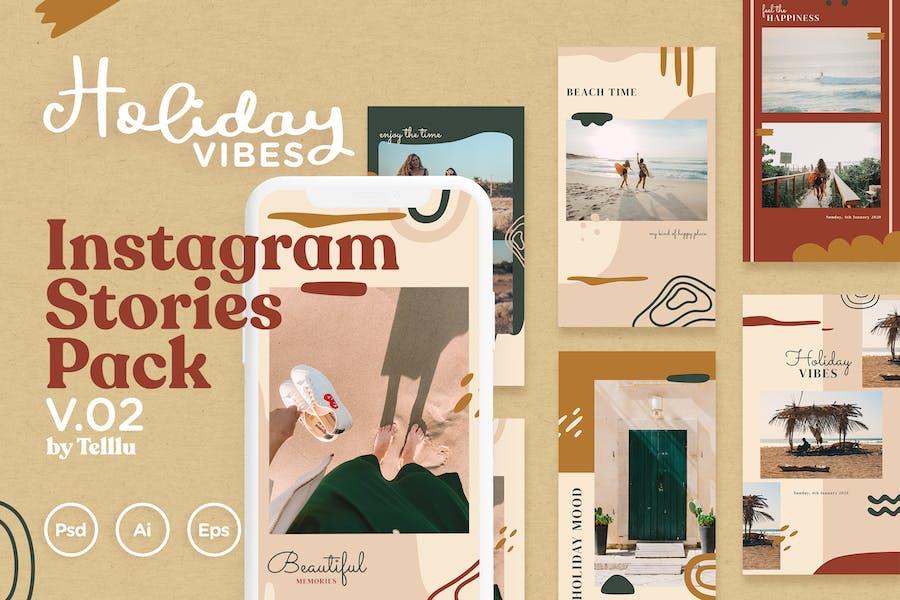 Instagram Stories Pack v.02 Holiday Vibes