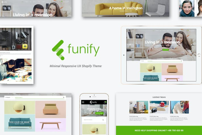 Thumbnail for Funify - Minimal Responsive Furnitur Shopify Theme
