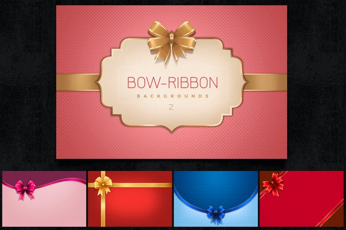 Bow Ribbon Backgrounds Col2