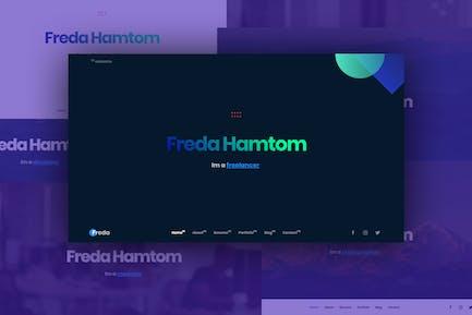 Freda Personal Resume / Portfolio / HTML Templete