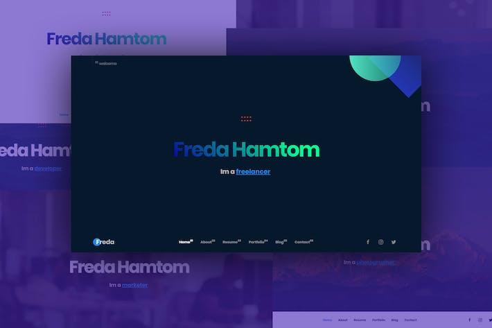 Thumbnail for Freda Personal Resume / Portfolio / HTML Templete
