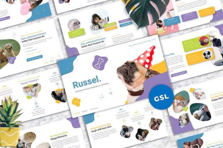 Thumbnail for Рассел - Уход за домашними животными Гуглеслид Шаблоны