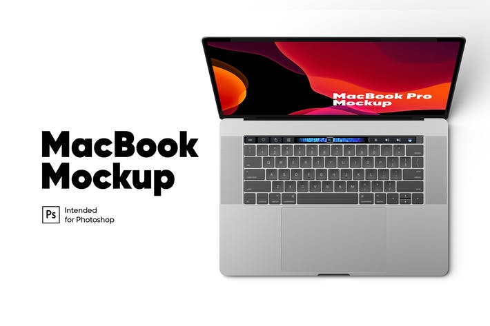 Thumbnail for MacBook Pro Top View Mockup