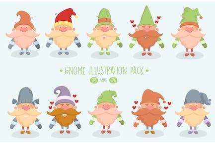 Gnome Illustration Pack