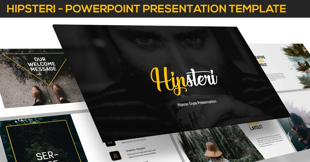 Download Hipsteri - Hipster Style Powerpoint Presentation by inspirasign