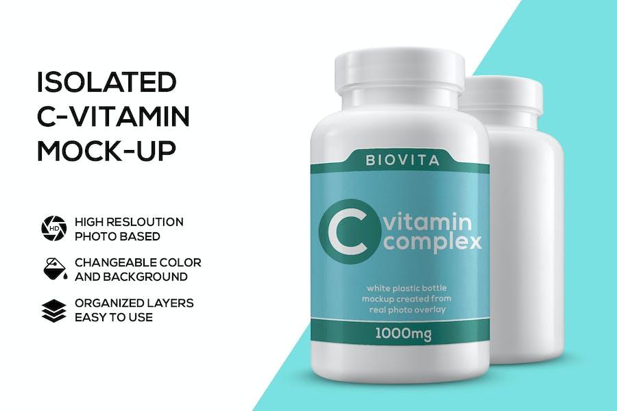 Vitamin bottle mockup