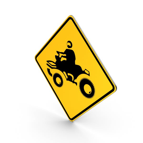 ATV Crossing Road Sign