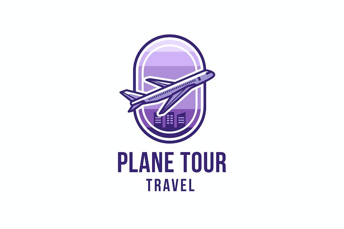 Thumbnail for Plane Tour Travel Logo Template