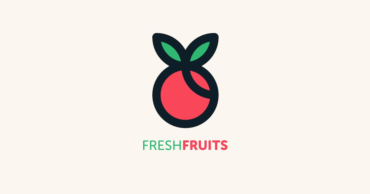 Download Fresh Fruits Logo Template by MuseFrame