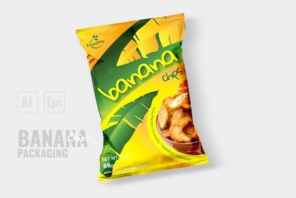 Modern Banana Chips Packaging